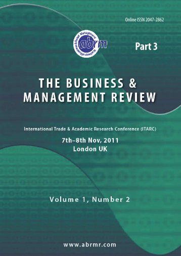 Conference Proceedings Part 3 - The Academy of Business and ...