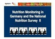 Nutrition - Nationale Verzehrsstudie II