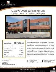 Cataldo, 120 flyer 7 10 12.pub - Cornerstone Property Advisors