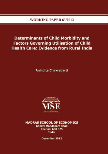 WORKING PAPER for web - Madras School of Economics