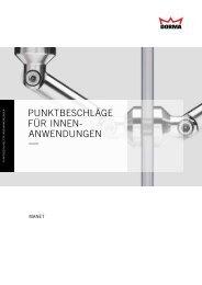 punktbeschläge für innen- anwendungen - Dieter Hoefer GmbH