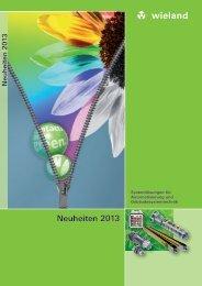 geht es zur Neuheiten Broschüre - Wieland Electric