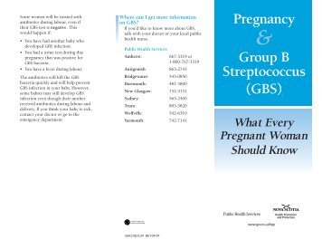 Pregnancy & Group B Streptococcus - Government of Nova Scotia