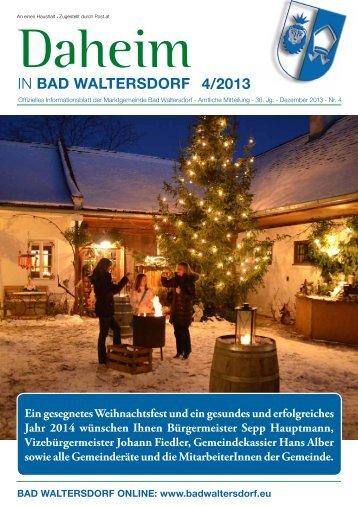 Ausgabe Dezember 2013 - Gemeinde Bad Waltersdorf