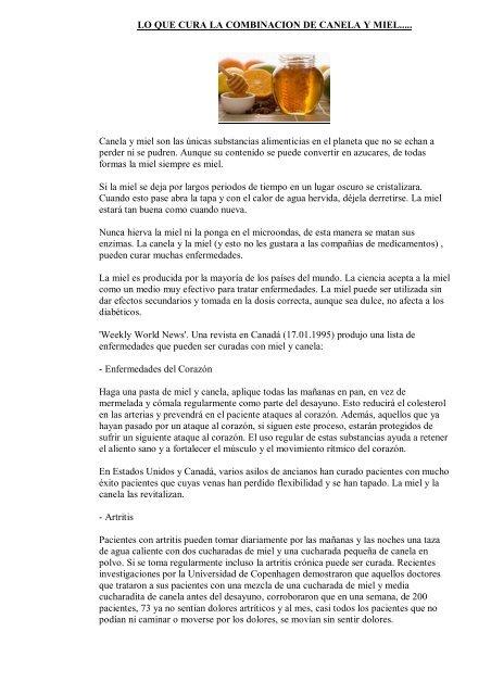 Efectos de la canela y miel