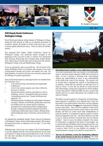 Academic Newsletter Term 2, July 2013