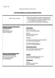Société : i2S Assemblée Générale du 26 juin 2013 LISTE DES ...
