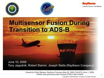 Multisensor Fusion During Transition to ADS-B