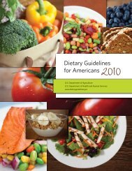 Dietary Guidelines for Americans - SchoolNutritionAndFitness.com