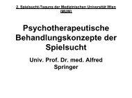 Prof. Springer - Sucht und Drogen