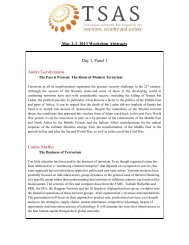 May 2-3, 2013 Workshop Abstracts Day 1, Panel 1 Andre ...