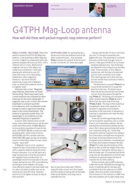 G4TPH Mag-Loop antenna - Create