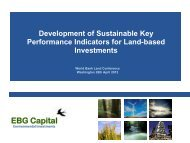 EBG Capital - World Bank Conference on Land and Poverty