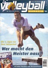 Bericht Dorfpokal 2009 im Volleyball-Magazin - TC Grün-Weiß ...