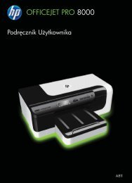 HP Officejet 8000 (A811) All-in-One series User ... - Centrum Druku