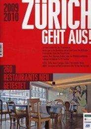 Zürich geht aus 2009/10 - Essens-& Sehenswürdig (pdf 764 kb)