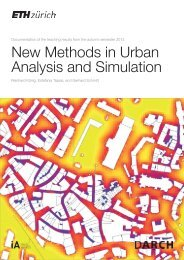 New Methods in Urban Analysis and Simulation | HS 2013