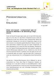 Presseerklärung LV - Früh- und Risikogeborene Kinder Rheinland ...