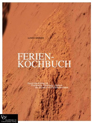FERIEN- KOCHBUCH - Ulrich Gröner