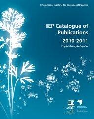 IIEP Catalogue of Publications  2007 - IIEP - Unesco