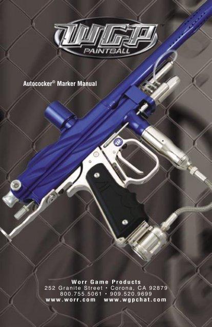 Autococker Marker Manual