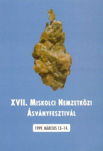 mf1999.pdf (3,5 MB) - Herman Ottó Múzeum Ásványtára