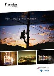Energia-, teollisuus- ja talonrakennuskaapelit - Prysmian group
