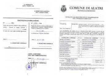 Certificato di Agibilità - Artt. 24 e 25, D.P.R. 6 ... - Comune di Alatri