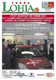 Uusi Suzuki Swift koeajettavissa 1.2 VVT (94hv) - Ykkös-Lohja