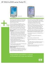 HP iPAQ hx2190 Pocket PC specifications - Computer Direct NZ