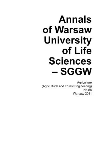 Annals of Warsaw University of Life Sciences - SGGW. Agriculture