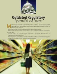 Outdated Regulatory System Fails to Protect Us - Chemicals Policy ...