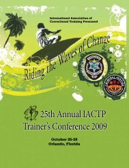 25th Annual IACTP Trainer's Conference 2009 - College of Health ...