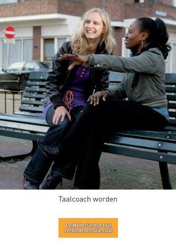 Flyer 'Taalcoach worden' - gemeente Moerdijk