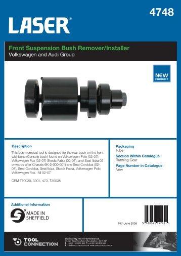 Front Suspension Bush Remover/Installer - Laser Tools