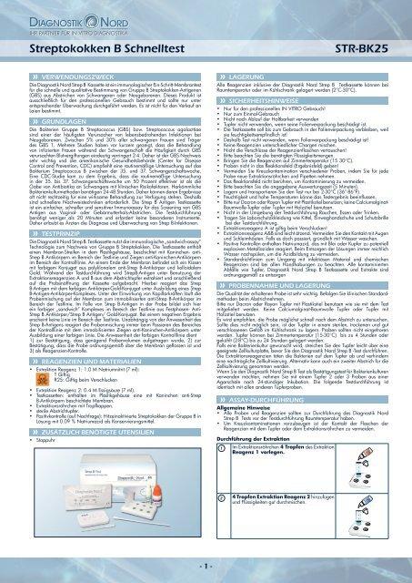 Streptokokken B Schnelltest STR-BK25