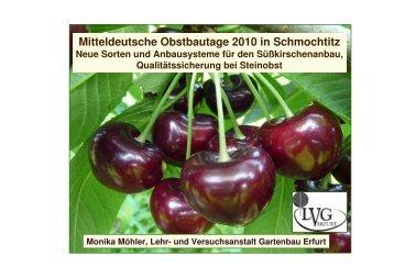 Mitteldeutsche Obstbautage 2010 in Schmochtitz - Landwirtschaft in ...