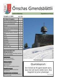 Ausgabe 01/2008 - Gemeinde Laterns