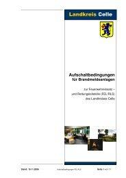 Aufschaltbedingungen für Brandmeldeanlagen - Landkreis Celle