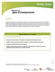 plan d'enseignement - Agence de la santé et des services sociaux ...