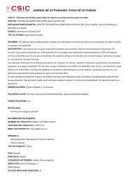 agenda de actividades - Centro de Investigaciones Biológicas