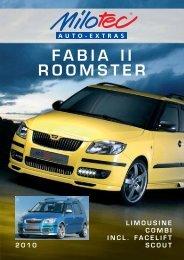 skoda fabia ii / roomster - Milotec Auto-Extras GmbH