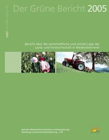 Der Grüne Bericht 2005 - Grüner Bericht