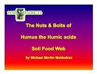 Benefits of Humus