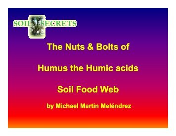 Benefits of Humus