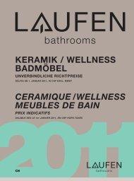 ceramique / wellness meubles de bain prix indicatifs - Laufen