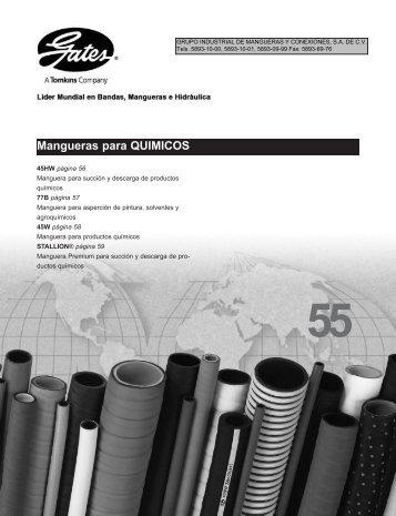 Mangueras para QUIMICOS - LSR Distribuidor