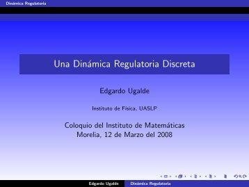 Una Dinámica Regulatoria Discreta