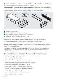 Page 1 © Montageanleitung | instructions de Montage | istruzioni per ...