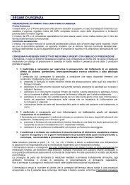REGIME D'URGENZA - Unità di Informazione sul Farmaco